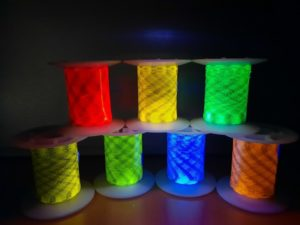 New colours of fluorescence under UV Light for Security applications